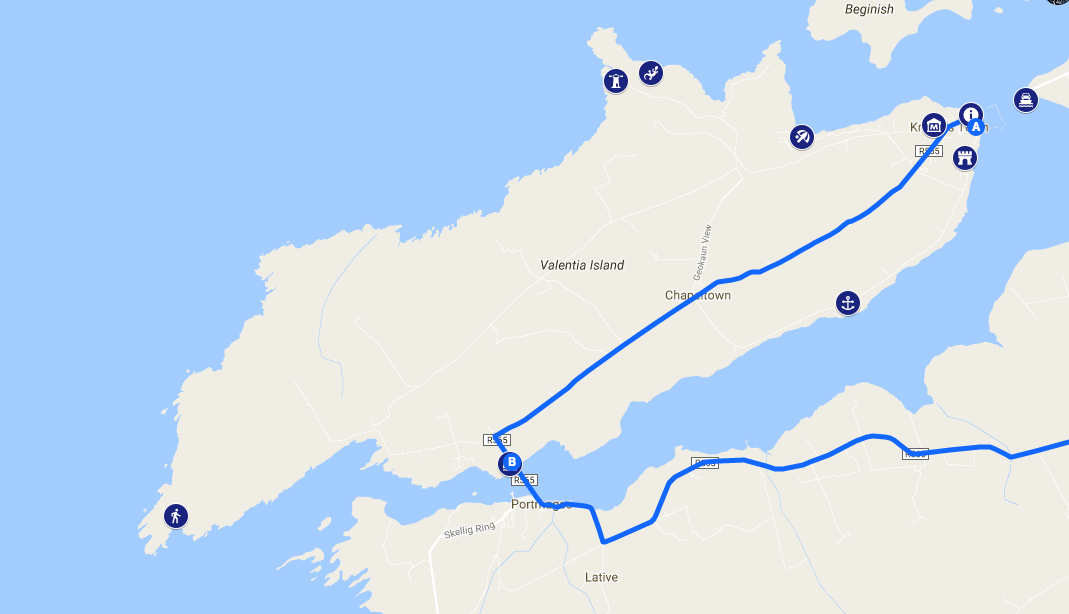 Map and Directions | SkelligWalker Cruises